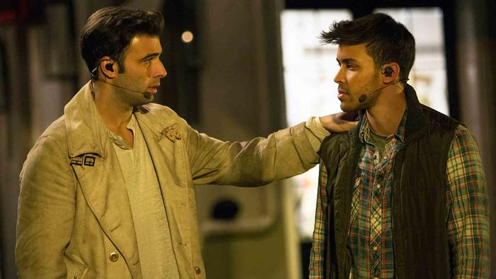 "Jencarlos Canela y Prince Royce en ""The Passion"""