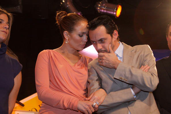 Jennifer Lopez y Marc Anthony salen de un evento de  la Film Corporation de Puerto Rico