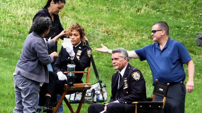 "Jennifer Lopez en las grabaciones de ""Shades Of Blue"""