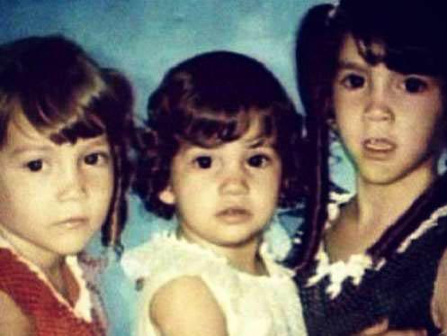 Jennofer López con sus hermanas