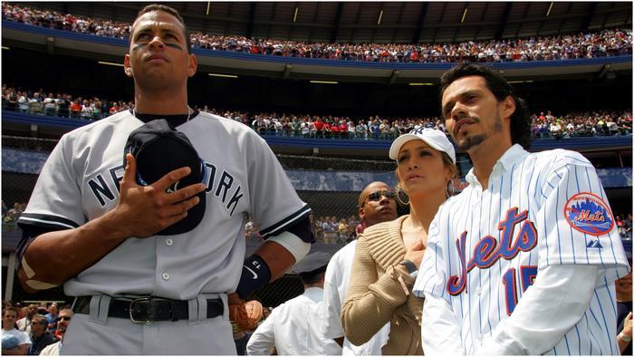 Jennifer Lopez y Alex Rodriguez en 2005