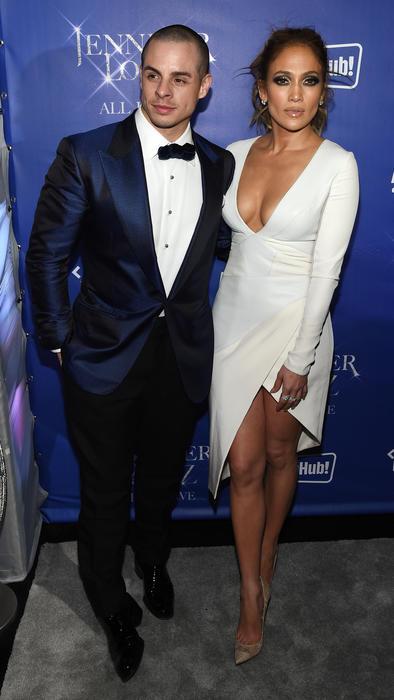 Jennifer Lopez y Casper Smart en la fiesta después del show de su residencia en Las Vegas