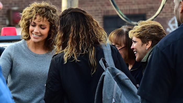 """Jennifer Lopez en el set de grabación de """"Shades Of Blue"""""""
