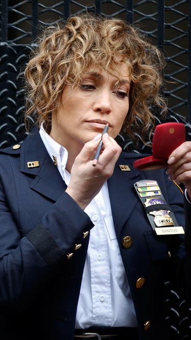 Jennifer Lopez maquillándose en el set
