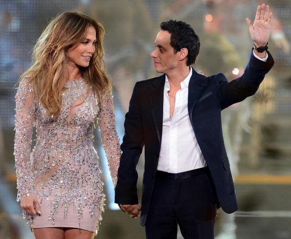 Jennifer López y Marc Anthony cantando juntos, 2012