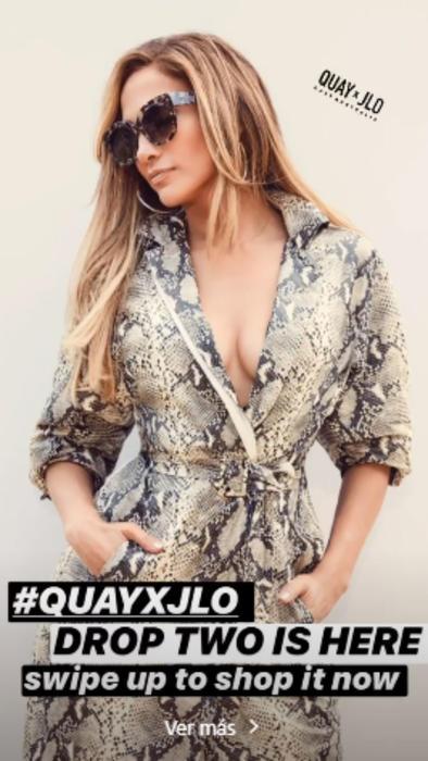 Jennifer Lopez en campaña de Quay Australia