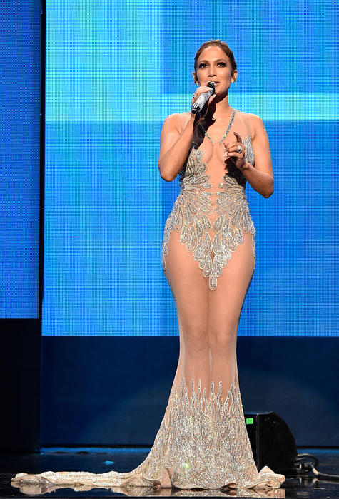 Jennifer Lopez durante los American Music Awards 2015