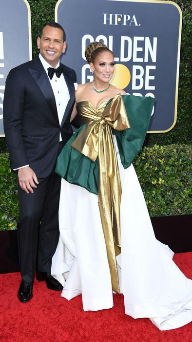 Jennifer Lopez y Alex Rodriguez en Golden Globes 2020