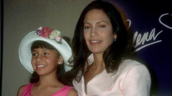 """Jennifer Lopez y Becky Lee Meza en la conferencia de prensa de """"Selena"""""""