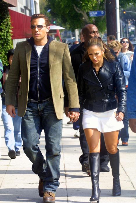 Jennifer Lopez y Ben Affleck en el 2002