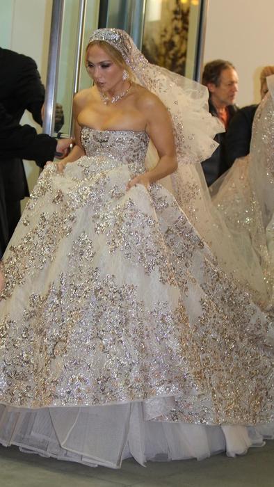 Jennifer Lopezen vestido de novia para la cinta Marry Me