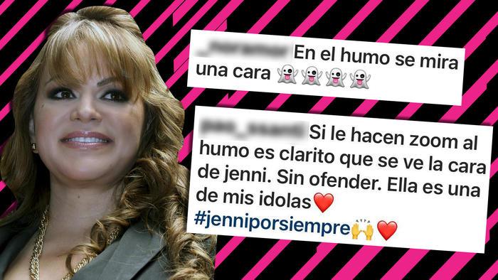 Jenni Rivera rostro en el humo