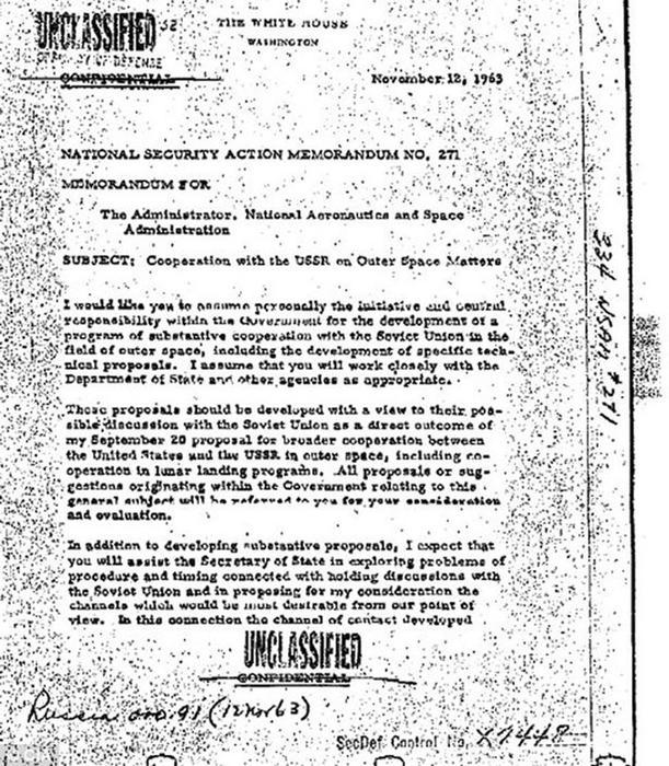 Carta JFK asesinato