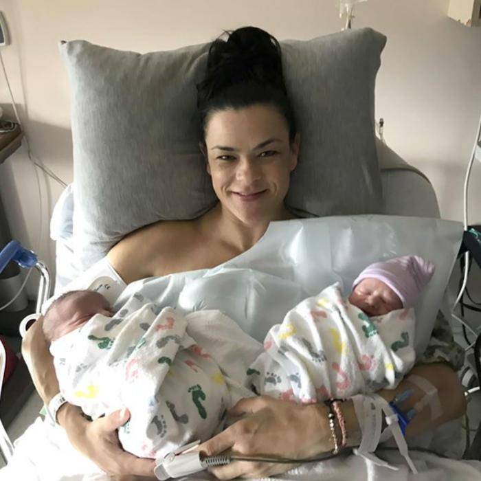 Jill Noe tras el parto