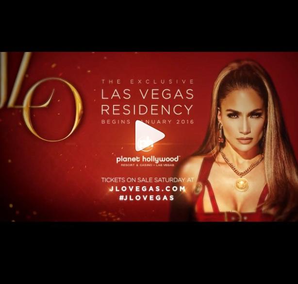 JLo anunció residencia en Las Vegas