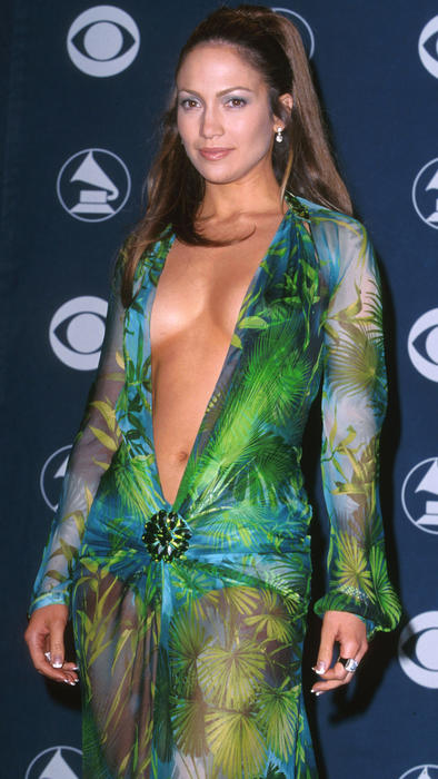 Jennifer Lopez en los Grammys del 2000