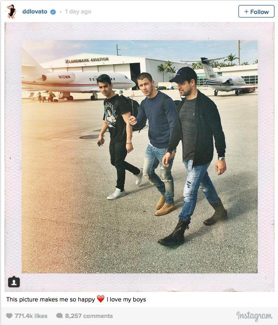 Joe Jonas, Nick Jonas & Wilmer Valderrama.