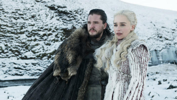"Jon Snow y Daenerys Targaryen en ""Game of Thrones"""