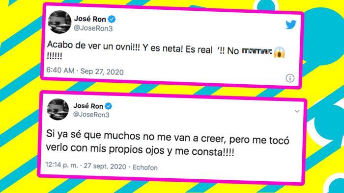 José Ron tuits ovni