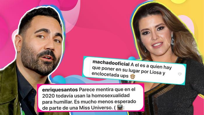 Enrique Santos y Alicia Machado se dijeron de todo