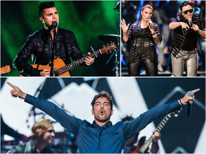 Juanes, Elvis Crespo y David Bisbal en Premios Tu Mundo 2014