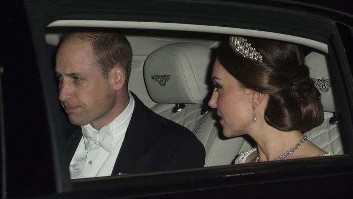 Kate Middleton con tiara de la princesa Diana