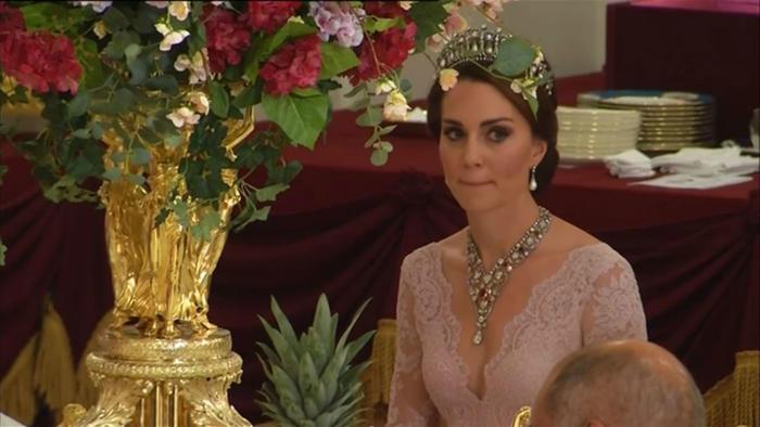 Kate Middleton en la cena de gal en el palacio de Buckingham