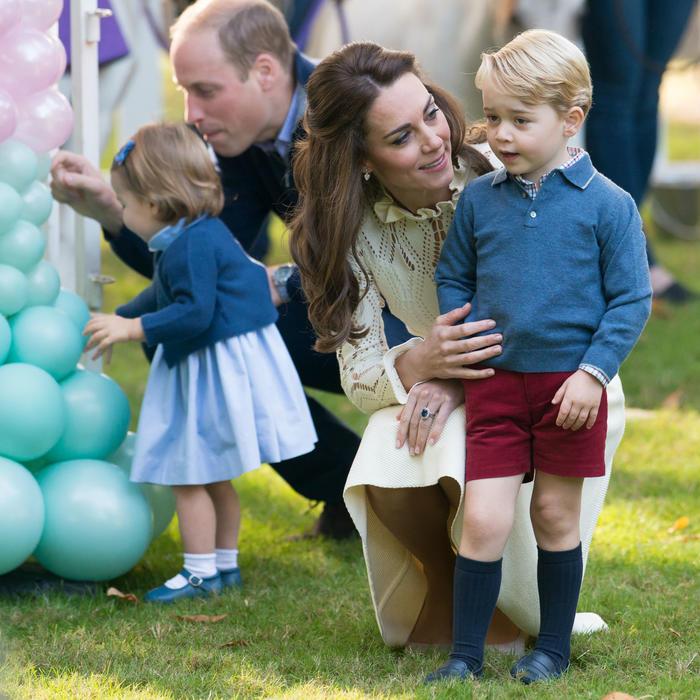 El príncipe William, Kate Middleton y sus hijos