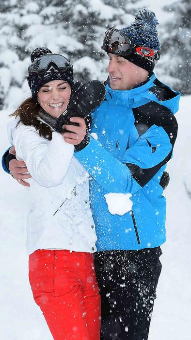 Kate Middleton y príncipe William en los Alpes