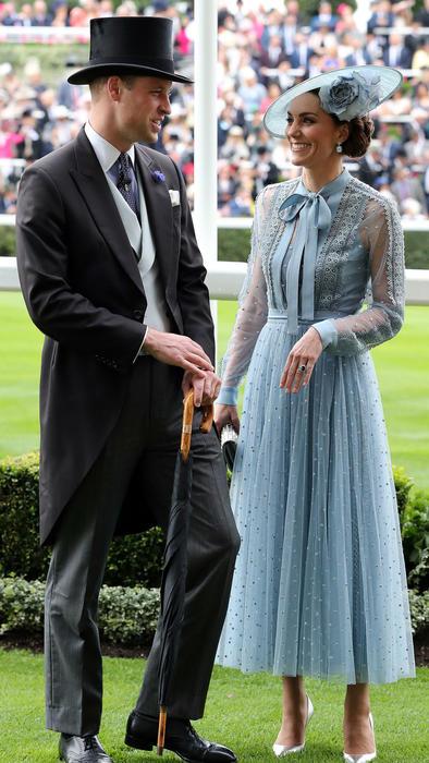 Kate Middleton y el príncipe William en el Royal Ascot 2019