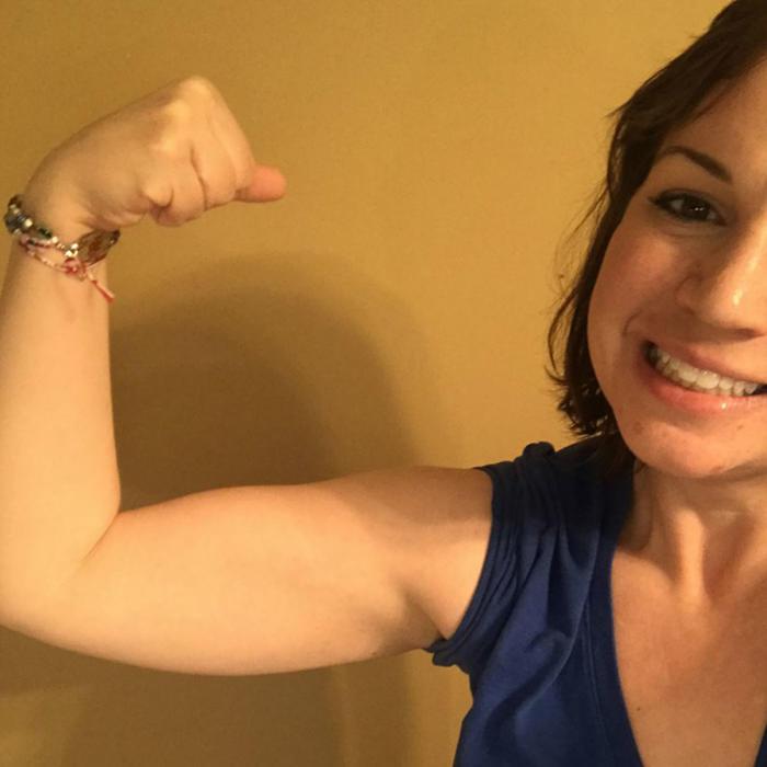 Katie Adams después de bajar de peso