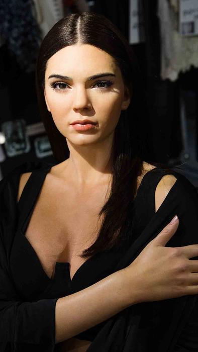 Figura de cera de Kendall Jenner en Madame Tussauds en Londres