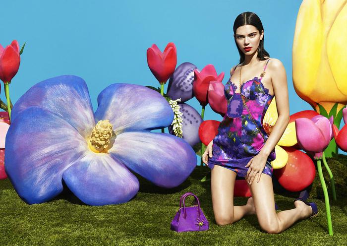 Kendall Jenner en la sesió de fotos de La Perla