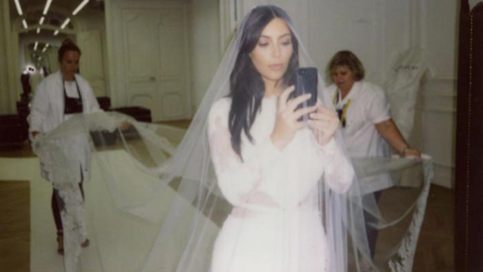 Vestido de casamiento de kim kardashian