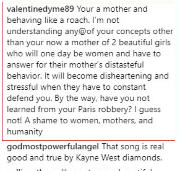Critica a Kim Kardashian