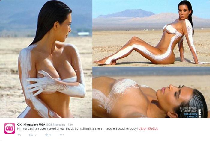 Kim Kardashian Posó Desnuda En Una Sesión De Fotos Para Enfrentar Su