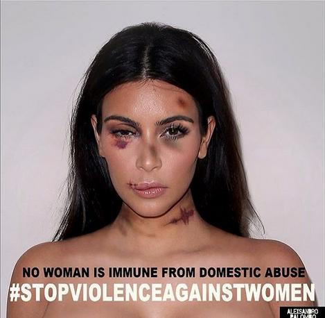 Kim Kardashian maltratada con Photoshop