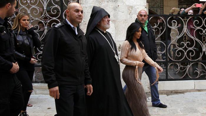 Kim Kardashian, North West, Khloé Kardashian y Kanye West