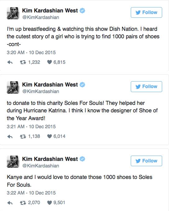 Mensajes de Kim Kardahian en Twitter