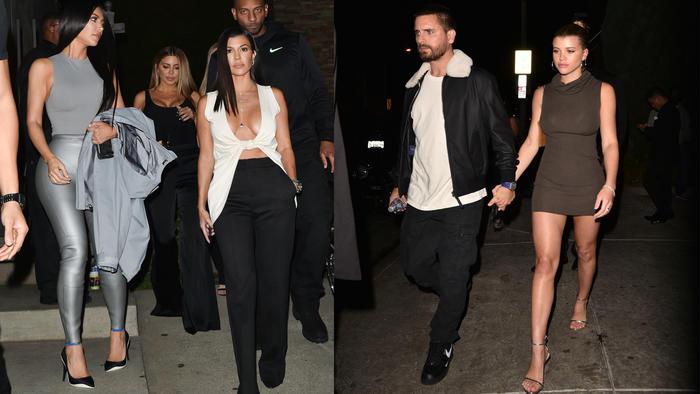 Kim Kardashian, Kourtney Kardashian, Scott Disick y Sofia Richie