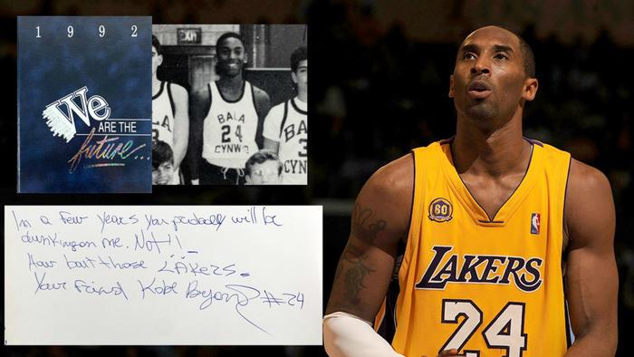 Anuario firmado por Kobe Bryant