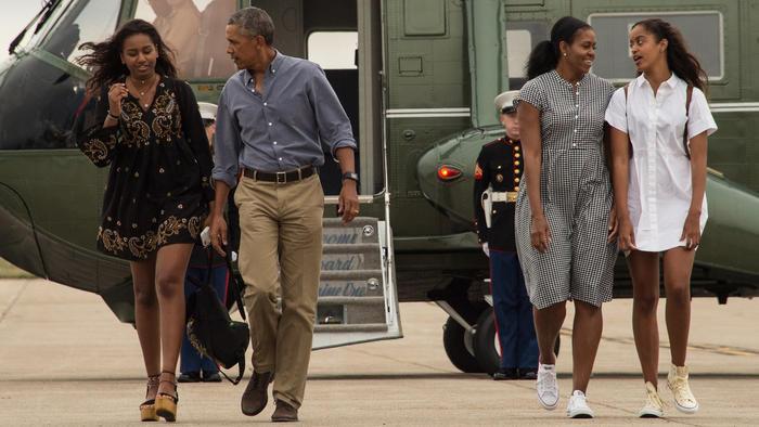 La familia Obama