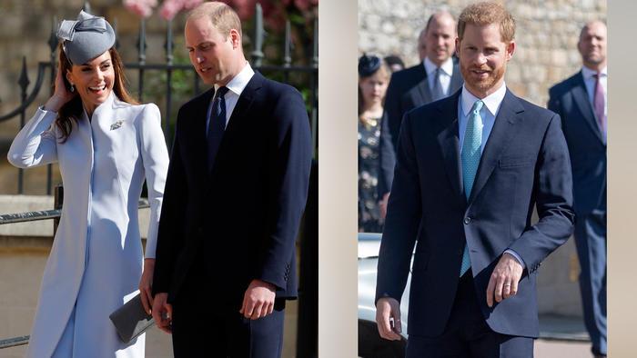 Los duques de Cambridge y el príncipe Harry