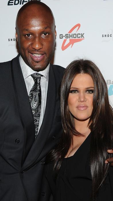 Lamar Odom y Khloé Kardashian en el Manhattan Center en agosto de 2010
