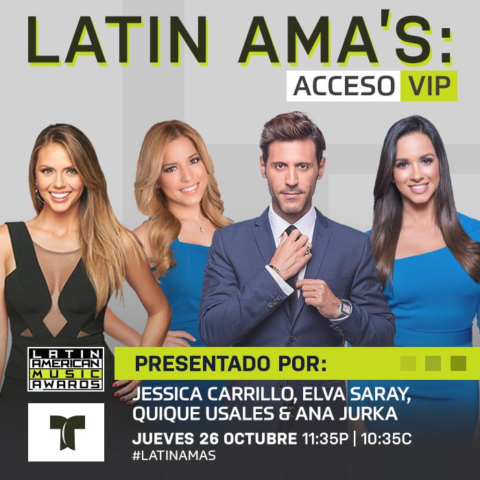 Conductores Latin AMA's: Acceso VIP.