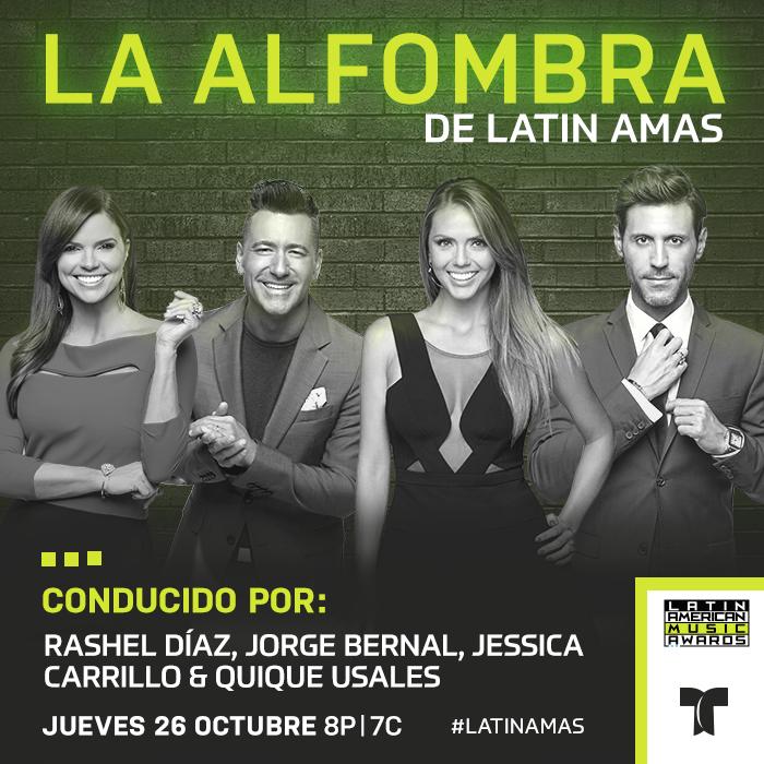 Conductores de la alfombra de los Latin AMAS 2017.