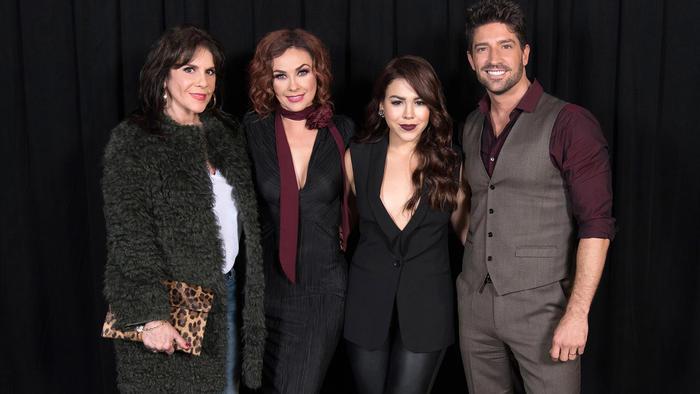 lanzamiento-La Doña-elenco principal, Aracely Arámbula, David Chocarro, Danna Paola, Rebecca Jones