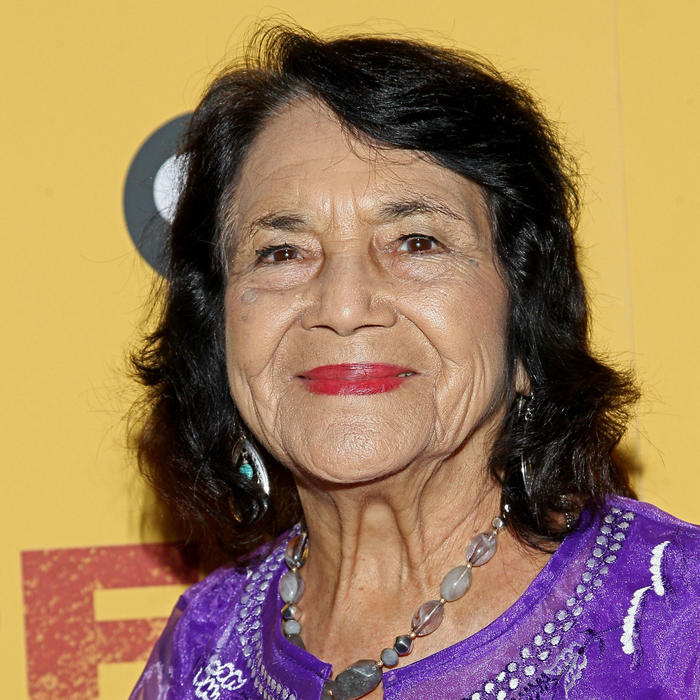 "Dolores Huerta en la premiere del documental ""Dolores"""
