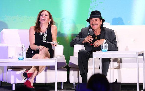 Leila Cobo and Carlos Santana Latin Billboards