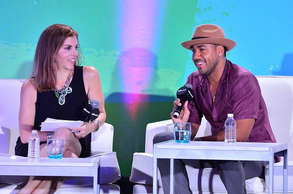 Leila Cobo and Romeo Santos Latin Billboard